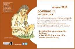 """El museu de prehistòria presenta la animación lectora """"Tu yaya Lucy"""""""