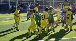 El Villarreal celebra a lo grande el campeonato B1 Prebenjamín de Castellón
