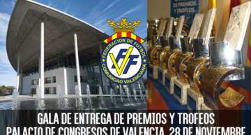 La Gala Anual de Entrega de Premios y Trofeos FFCV será el 28 de noviembre