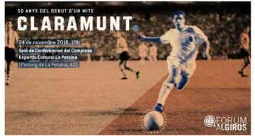 Homenaje a Pep Claramunt en el 50º aniversario de su debut en el Valencia CF