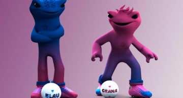 VÍDEO: Así son Blau y Grana, las dos nuevas (e igualitarias) mascotas del Levante UD