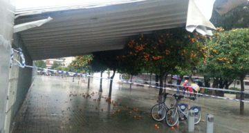 El temporal causa desperfectos en el campo del CD Malilla