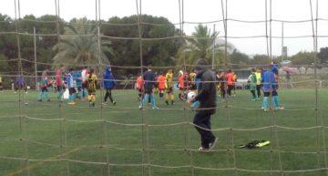 Arena Alicante y Betis Florida bailaron bajo la lluvia en el Grupo 4 Alevín Segundo Año Alicante