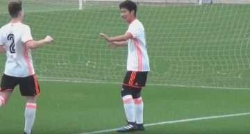 VIDEO: Hat-trick de Kangin Lee en el triunfo del Valencia ante el Alboraya en Cadete Autonómico (4-1)