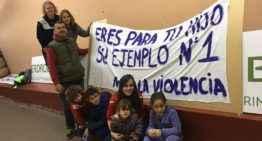 GALERÍA: El E-1 Valencia mostrará una pancarta contra la violencia este fin de semana