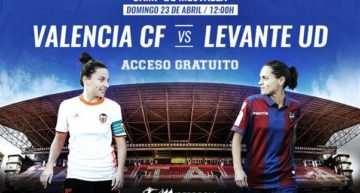 Los clubes reiteran su invitación a los aficionados a ver en directo el gran derbi femenino en Mestalla