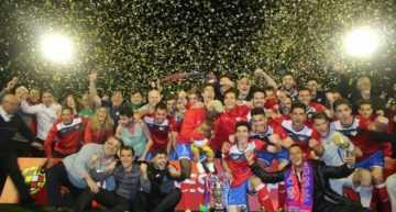 Histórico Atlético Saguntino en su conquista de la Copa Federación