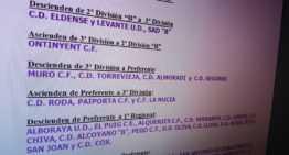 Oficial: ascensos y descensos FFCV al finalizar la temporada 2016-2017