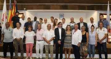 Recepción oficial en el Ayuntamiento de l'Alcudia para las delegaciones internacionales del COTIF Sub-20 y Femenino