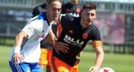 El Valencia CF 'presume' de cantera y Academia en sus alineaciones del VCF Mestalla