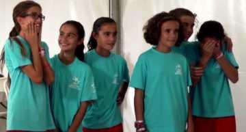 Emocionante sorpresa para las chicas del VCF Femenino Alevín en la Danone Nations Cup