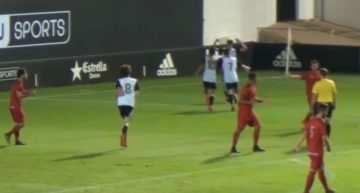 VIDEO: El Valencia explotó su pegada en la segunda mitad ante el Alboraya en División de Honor (4-1)