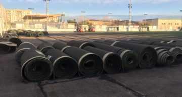 GALERÍA: El CDA San Marcelino estrena nueva 'alfombra' en su Bombonera en los próximos días