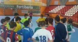 Entrenamientos de las selecciones Alevín e Infantil de Fútbol Sala en Sagunto y Puerto de Sagunto