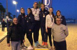 Huerta-Huerta (hombres) y Soria-Carro (mujeres) reinan en la cuarta cita del Campeonato de Voley Playa en Benidorm