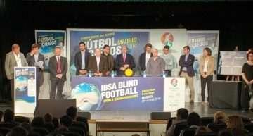 Míchel, Julen Guerrero, Víctor Sánchez del Amo y Álvaro Benito apoyan el Mundial de fútbol para Ciegos