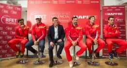 VIDEO: Jorge Rodríguez deseó suerte al equipo español de Copa Davis en Valencia