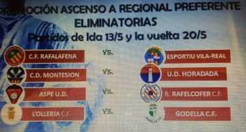 Oficial: eliminatorias para la Fase de Ascenso a Regional Preferente