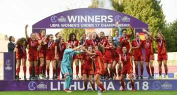 Dos goles de Eva Navarro dan a España Sub-17 el Europeo Femenino de Lituania (2-0)