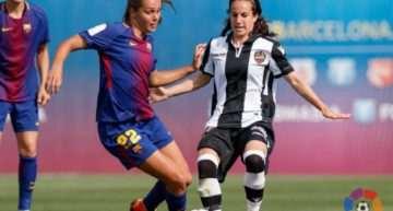El Levante Femenino resiste ante el FC Barcelona y tendrá que remontar un gol en la vuelta de cuartos (1-0)