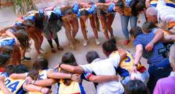 Las campeonas de España de Rugby sub-18 compartieron sus éxitos con la Diputació