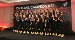 La Selección Española Sub-20 Femenina recibió un homenaje tras proclamarse subcampeona del Mundo