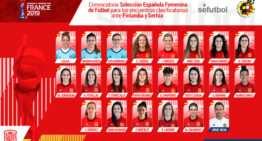 Paños, Ivana, Corredera y Carro, convocadas con la Selección Española Femenina absoluta ante Finlandia y Serbia