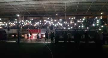 GALERÍA: La presentación 18-19 del E-1 Valencia iluminó la noche de Paiporta