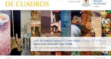 Venta solidaria de cuadros donados por BBVA a beneficio de la Casa Ronald McDonald de Valencia el 8 de noviembre