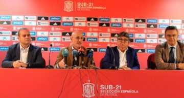 De la Fuente recalca el 'orgullo' de jugar con la Selección Española Sub-21 en Logroño