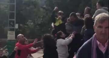 VIDEO: Padres de infantiles del Beniaján y ADM Lorquí protagonizaron una reyerta en la grada
