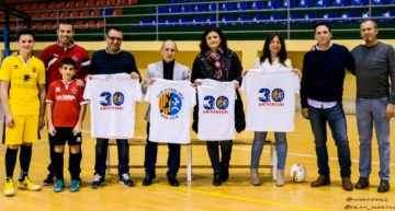 La FFCV estuvo al lado del Ribarroja FS en su trigésimo aniversario