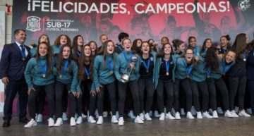 Rubiales ensalza a España Sub-17 Femenina: 'Muchas niñas quieren ser como vosotras'