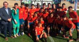 Victoria de España Sub-15 ante México que le da el trofeo de campeón del hexagonal Sportchain AGS Cup (1-0)