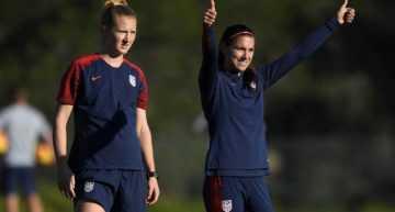La selección femenina de EEUU ya calienta motores para el choque ante España en el Rico Pérez