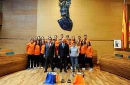 La Diputació ayudará a la Federación de Balonmano a mantener e impulsar la formación de las jugadoras