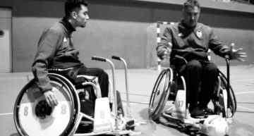 La Asociación de Futbolistas del VCF presenta la primera Escuela de 'A-Ball', fútbol en silla de ruedas