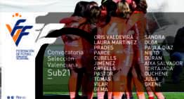 Histórica primera citación de la nueva Selección Femenina FFCV Sub-21