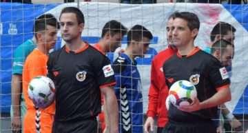 El duo de árbitros Rabadán y Delgado estarán en la Copa del Rey de Fútbol Sala 2019 de Valencia