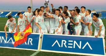 La Selección Española Sub-15 de Julen Guerrero, campeona del Trofeo Pinatar Arena tras derrotar a Holanda (1-0)