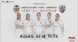 El VCF Femenino promociona el derbi femenino bajo el lema 'Elles som tots'