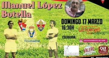 Aspe homenajeará el domingo 17 a Manuel López Botella, uno de los fundadores del club