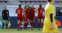 La granota Eva Navarro arranca la Ronda Élite Sub-19 con 'doblete' ante Serbia (2-0)