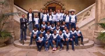 Homenaje de la Diputació de València a las Selecciónes FFCV sub-12 que compitieron en el Campeonato de España