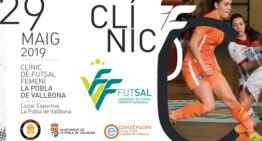 Nuevo Clínic de fútbol sala femenino el 29 de mayo en La Pobla de Vallbona