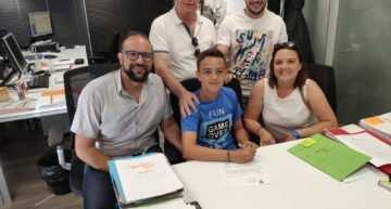 El convenio entre CF Base Gandía y Valencia CF sigue dando sus frutos