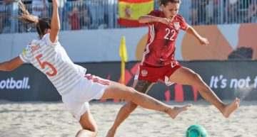 España cae ante Rusia en la final del Europeo de fútbol playa (3-2)