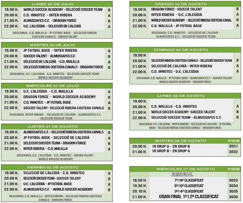 Calendario Futbol 2019.Grupos Y Calendario Oficial Del Cotif Promeses Istobal 2019