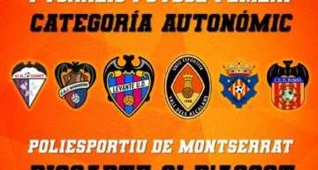 Primer Torneo de Fútbol Femenino organizado por UE Vall dels Alcalans en Montserrat el 31 de agosto