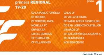 La FFCV confirma los 8 grupos de Primera Regional Amateur